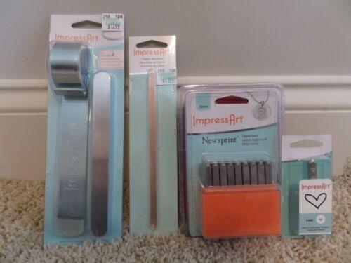 USED ImpressArt Impress Art 3mm Steel Stamp Set Aluminum Copper Bracelets Bendin