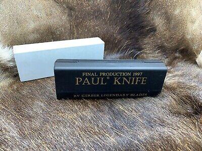 "1997 ""Final Prod."" Gerber Paul Axial LockSeries II Model 2 Locking Knife Mint"
