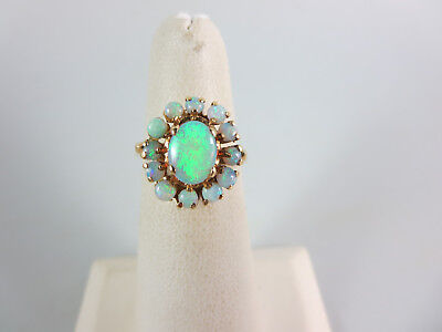 14k YELLOW GOLD OPAL VINTAGE  RING 5.25