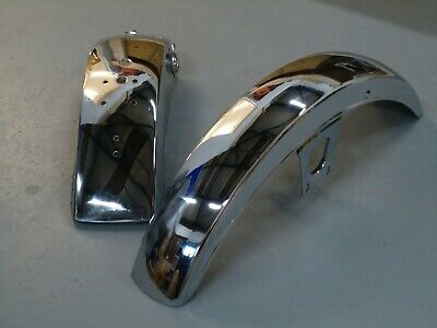 <em>YAMAHA</em> RD250 RD400 FRONT  REAR MUDGUARD SET 1977 1978 1979 FENDER AIR