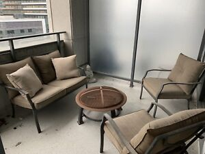 Outdoor Patio Set including fire pit