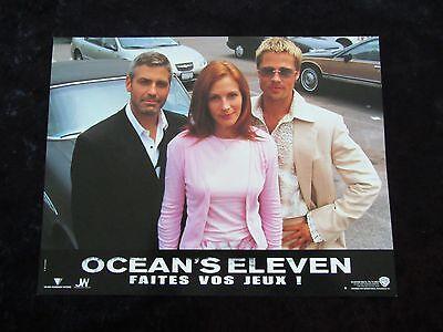 OCEAN'S ELEVEN lobby cards GEORGE CLOONEY, BRAD PITT, MATT DAMON, JULIA ROBERTS