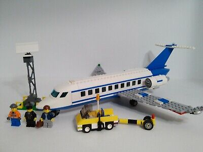 Lego City Passenger Plane 3181 100% complete with 3 minifigs