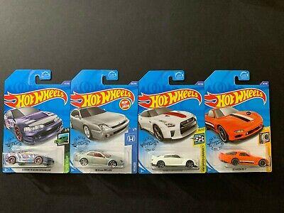 Hot Wheels Honda Prelude, Integra GSR, Nissan GT-R R35 50th Anniv. & RX7 FD 1/64