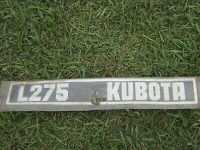 Kubota--factory Decal--l275