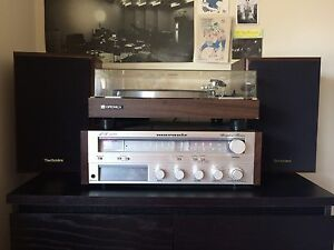 Marantz MR 1130 stereo, Optonica turntable, Technics speakers