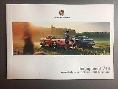 2017 Porsche Boxster Type 718 Tequipment Accessories Showroom Sales Brochure