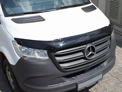 Bonnet Guard Protector Black Acrylic Deflector for Mercedes Sprinter (2018 on)