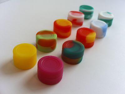 100 New 3ml silicone containers everyday storage non-stick FDA Grade Jar free SH