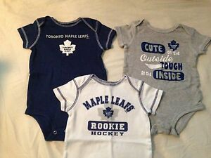 Toronto Maple Leaf onesies