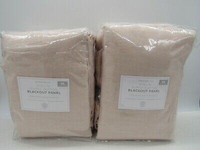 New Pottery Barn Kids Evelyn Ruffle Bottom Blackout Drapes 44x96~Blush~Set of 2