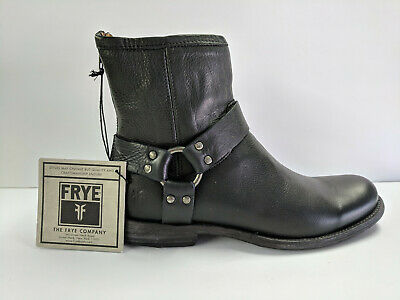 Mens Short Harness Boot (Frye Phillip Harness Black Short Boot Mens)