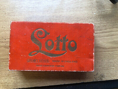 Vintage Lotto Board Game by Spears COMPLETE VGC - Collectable
