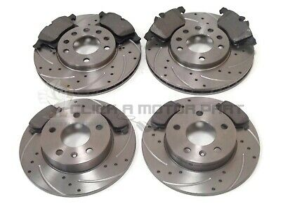 VAUXHALL ZAFIRA GSi TURBO FRONT & REAR DRILLED BRAKE DISCS AND MINTEX PADS for sale  Shipping to Ireland