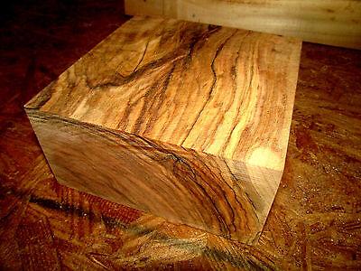 Beautiful Olive Bowl Blank Lathe Lumber Wood Turning 6 X 6 X 3
