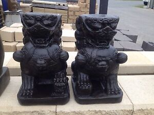 Pair of Temple Lions/Foo Dogs Carrara Gold Coast City Preview