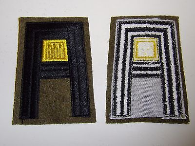 b1162 US Army 1930's- WW 2 First Army Cavalry patch yellow center R2E