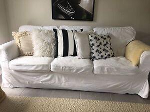 White linen couch Little Mountain Caloundra Area Preview