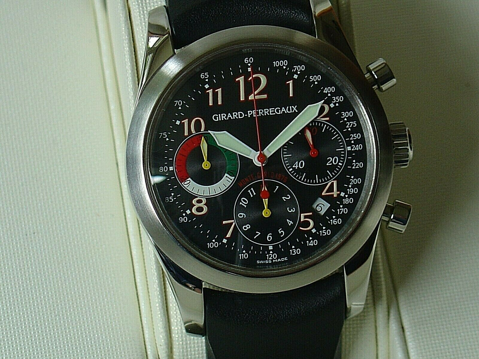 GIRARD PERREGAUX 1976 Monte Carlo S/S chronograph.As new condition.146/1000 - watch picture 1