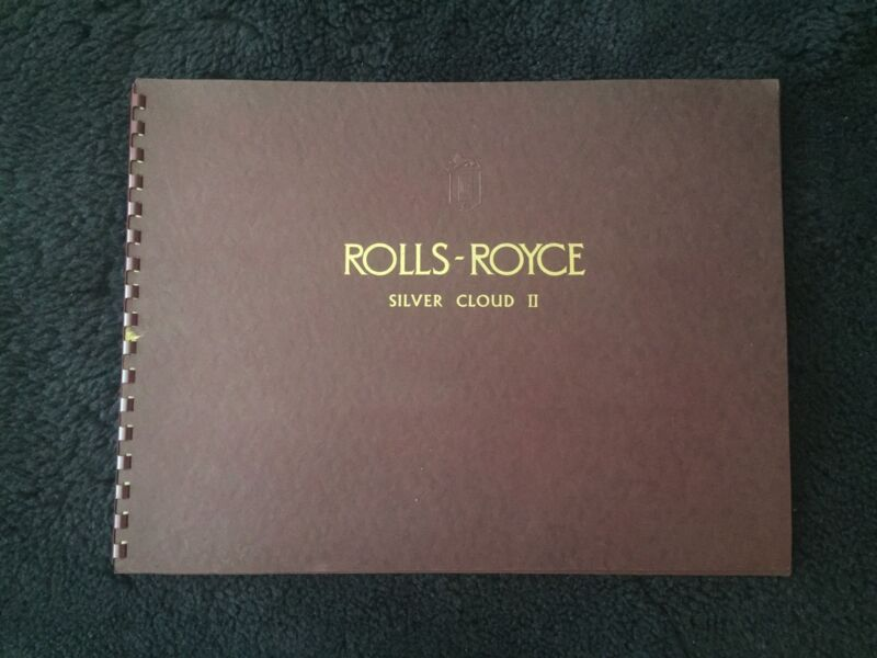 Rolls-Royce Silver Cloud II Standard Saloon Dealer Showroom Brochure SWB LWB OEM