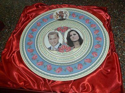 Royal Wedding L.E. Bone China 10.5-inch Plate w/ Gift Box by Caverswall NEW
