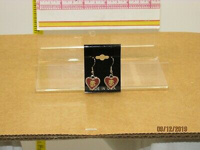 The listing is for:1 pair of Florida State University heart shaped drop earrings Florida State University Earrings