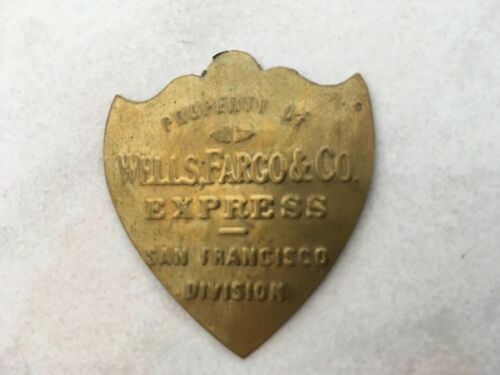 Wells Fargo & Co Express San Francisco Division Brass Plaque Sign Look & Learn