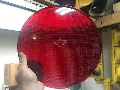 "Used, Eagle Signal 12"" Flatback Alusig Thunderbird Glass Traffic Stop Light Lens Red for sale  New Philadelphia"