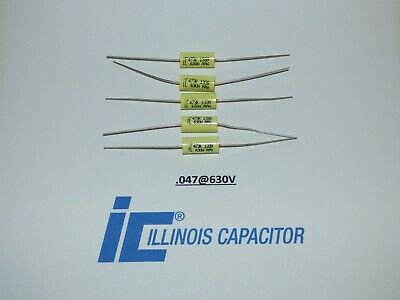 Illinois .047uf 630vcapacitors Polypropylene Film Axial Lead Capacitor Set5