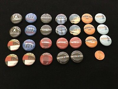 Lot Of 30 Switchfoot Rock Button Pin 11 Different San Diego CA Christian
