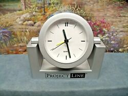 Project Line Quartz Beep Alarm Clock Small Battery Operated Analog