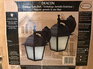 New Outdoor Wall Lights - Twin Pack