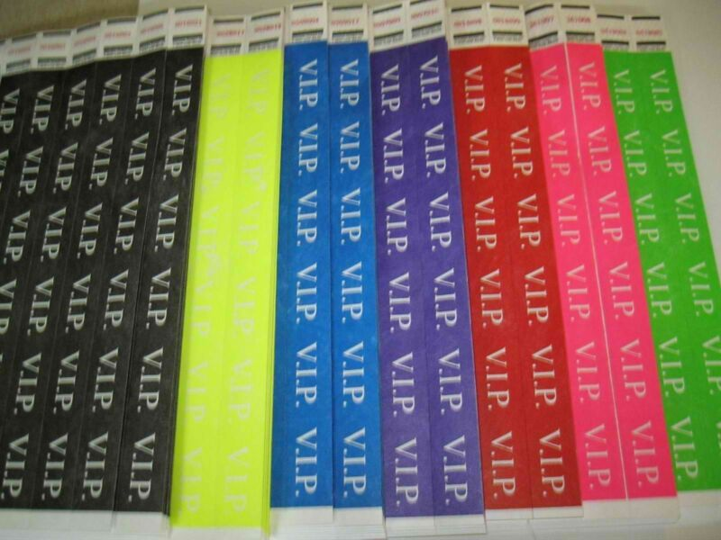 """VIP Tyvek Wristbands Event Party 3/4""""Consecutive  Select Quantity/Color"""