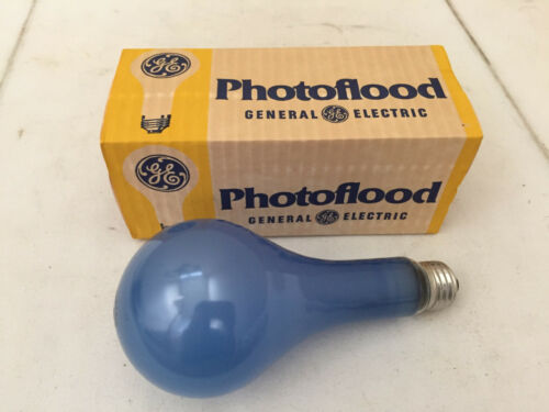 NOS Vintage GE Photoflood Blue Light Bulb Lamp 120v EBW-NoB2 Photography