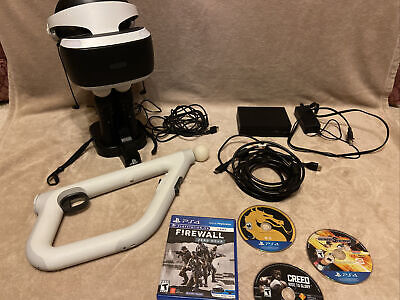 Sony PlayStation VR PS4 Virtual Reality Headset Bundle+ Games & Charging Station
