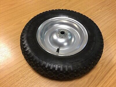 Replacement Pair of Wheels & Tyres Ideal for Wheelbarrows, Trolleys Etc. 3.50-8