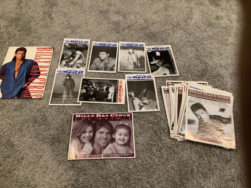 Lot Of 40 Billy Ray Cyrus The Spirit Fan Club Magazines Country Music Miley