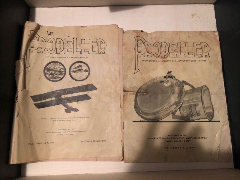 The Propeller Camp Green Magazine 1918 Charlotte Nc Camp Greene Rare Vintage 2