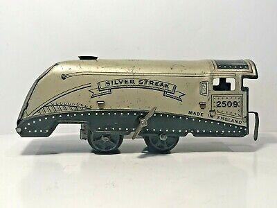 🚄 1930s O Gauge WELLS Brimtoy London SILVER STREAK 2509 Mickey Mouse Train Set