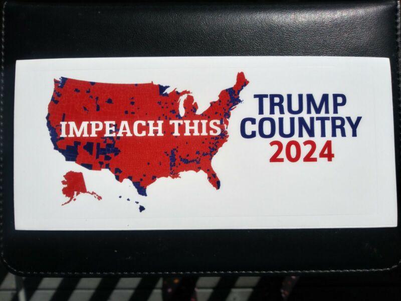*CALLING ALL PATRIOTS* Impeach Donald Trump 2024 ANTI JOE BIDEN Bumper Sticker