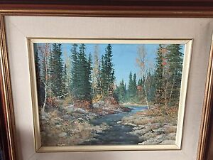 Original signed painting by Canadian artist Cole Bowman