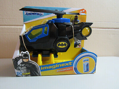 Fisher Price Imaginext DC Super Friends Batman Batcopter helicopter NEW claw set