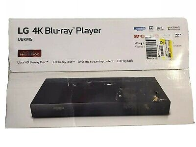 LG UBKM9 - 4K Ultra HD HDR Dolby Vision Blu-ray Player with Remote -NEW/OPEN (4k Blu Ray Player With Dolby Vision)