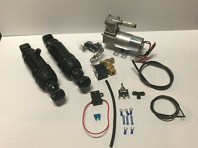 Harley air ride SUSPENSION TOURING! 94-19 US SELLER    KIT WITH COMPRESSOR MOUNT