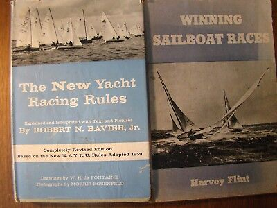 3 BOOKS ON WINNING SAILBOAT RACES YACHT RACING RULES SAILING TO WIN ILLUSTRATED