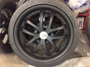 4x EXE RIMS WITH MICHELIN TIRES 255/35R19