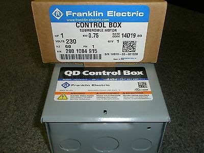 1 Hp 230V 1Ph Franklin Qd Control Box Submersible Water Pump   2801084915