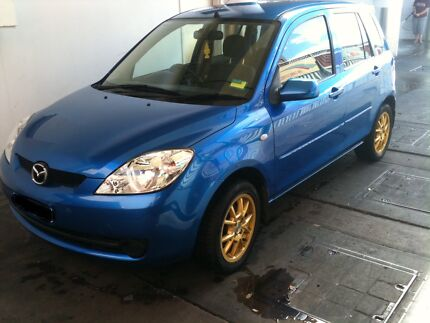 Mazda 2 Neo DY Series 2, 2005, Blue With Golden Wheels, Long Rego
