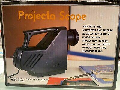 Vintage Projecta Scope Pj768 Light Projector Art Drawing Tracing Craft