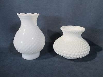- Lamp Shades White Glass Hobnail Chandelier Sconce Replacement Parts Lot of 2